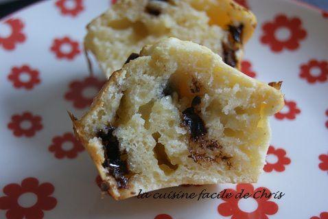 Muffins à la ricotta, pépites de chocolat