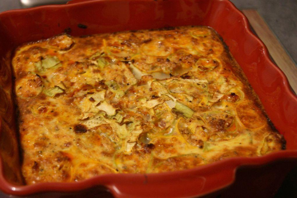 Cannellonis de courgettes au chorizo, flan au lait de brebis