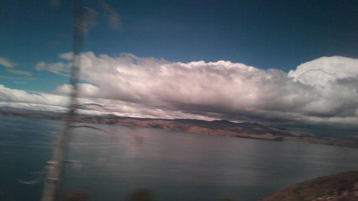 Photos du lac prises avec le téléphone en bus.