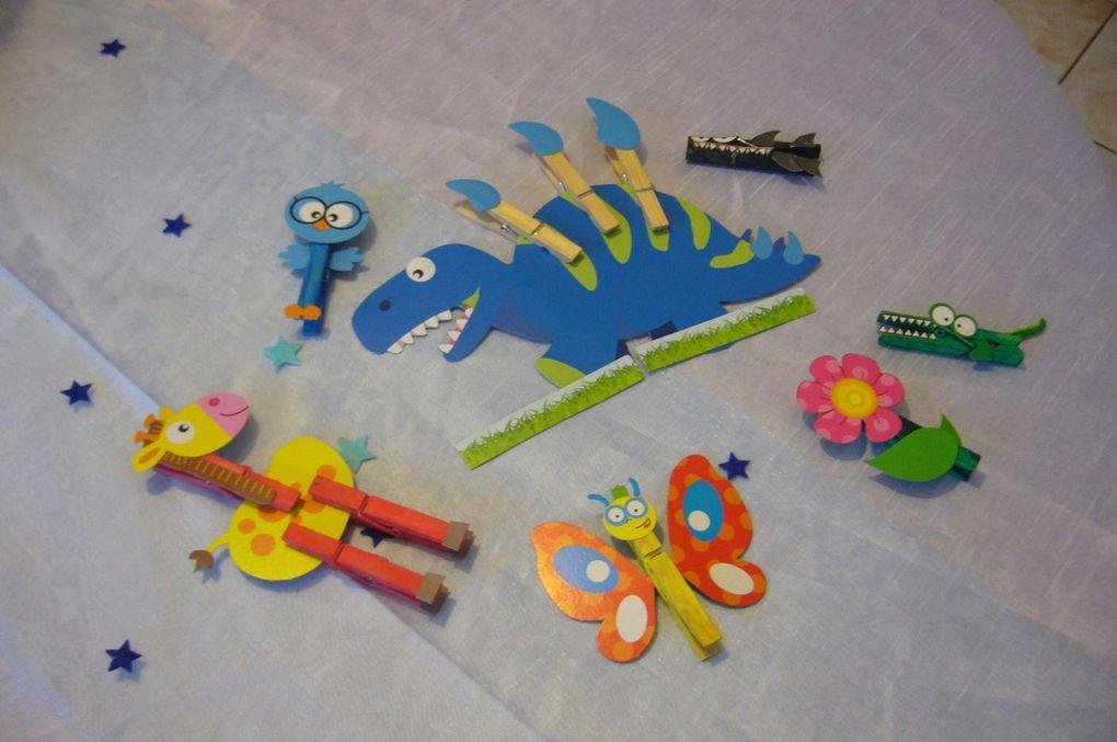Nos figurines pinces à linge avec SES creative