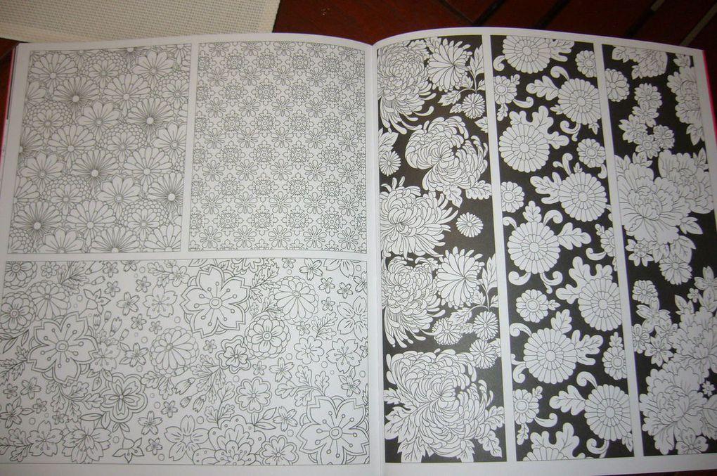 Motifs Japonais à colorier avec les Editions Usborne