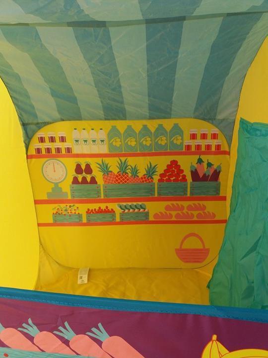 Notre tente pop'up La marchande de chez LUDI c'est bien joué