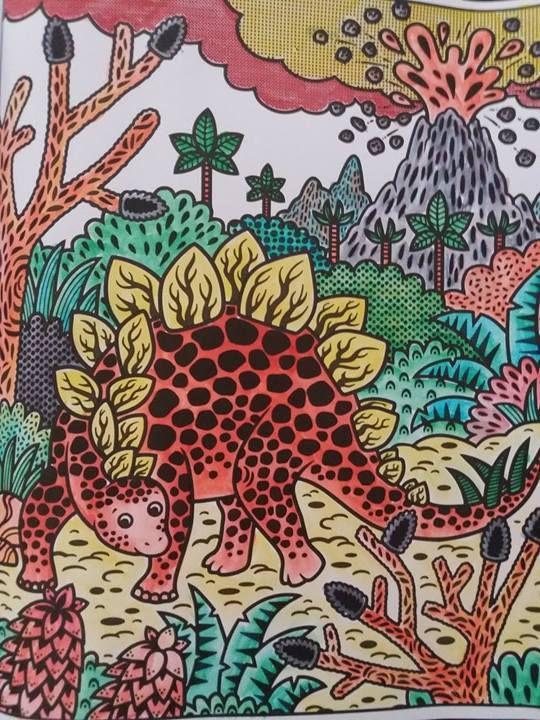 La peinture magique - Les dinosaures - Activité pour enfants