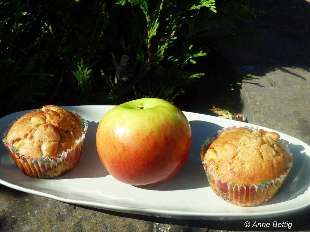 Muffins pomme cannelle et rhum