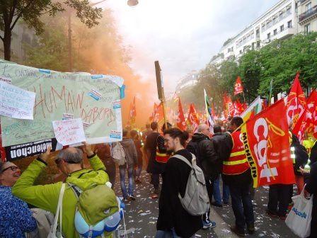Les Choletais à Paris - ambiance de manif