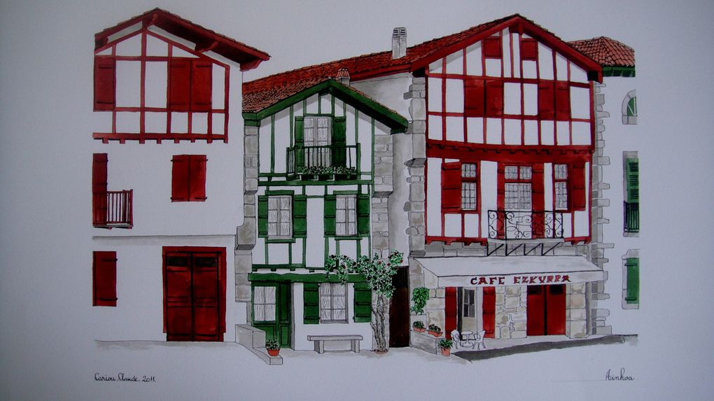 Les dessins de claude cariou encresetpastels for Photos maison basque