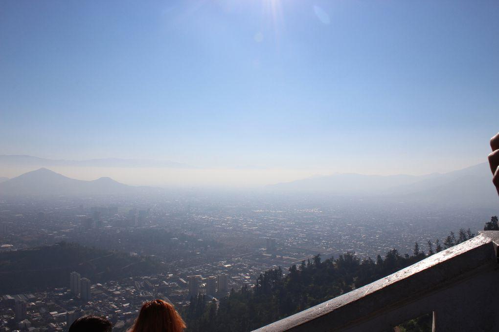 Vue panoramique de Santiago depuis le San Cristobal