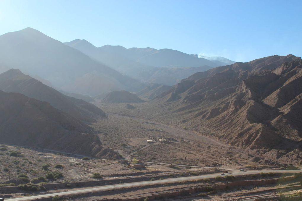 La panorama entier depuis le haut du Pukara