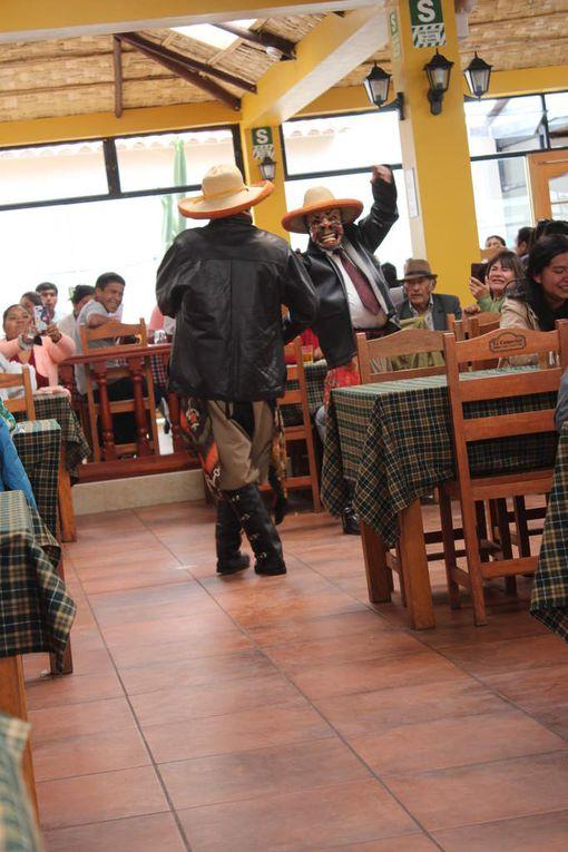 Ces danseurs masqués font la danse de l'homme ivre (symbolisant l'homme qui buvait pour traverser les montagnes de nuit): bouteille à la main et titubant, ils vont chercher les dames de la salle pour les faire danser.