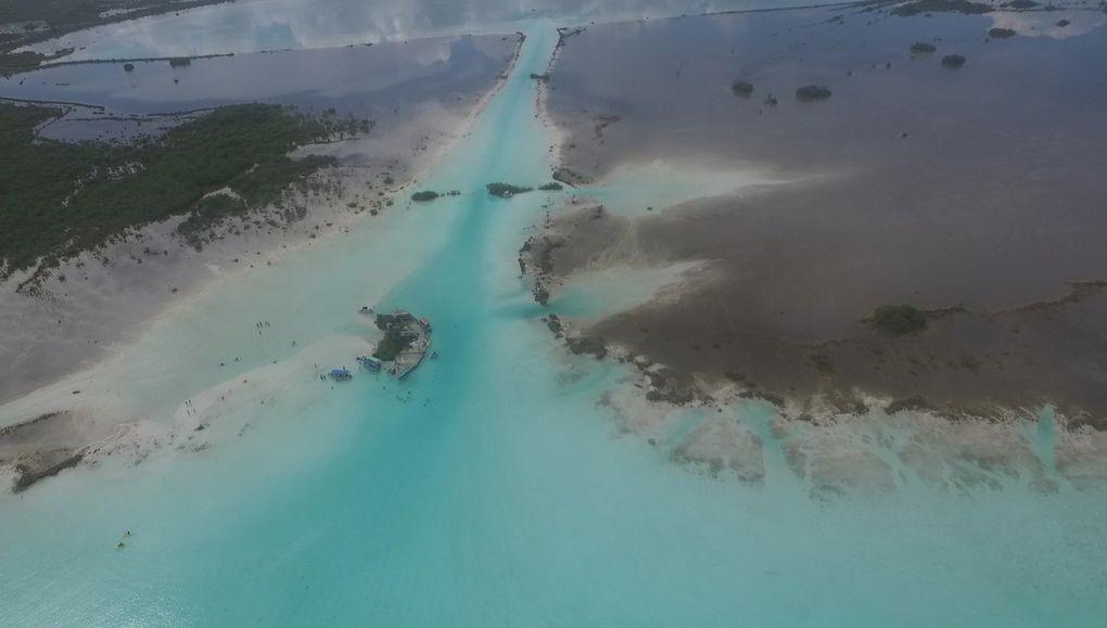 Vue aérienne du canal des pirates