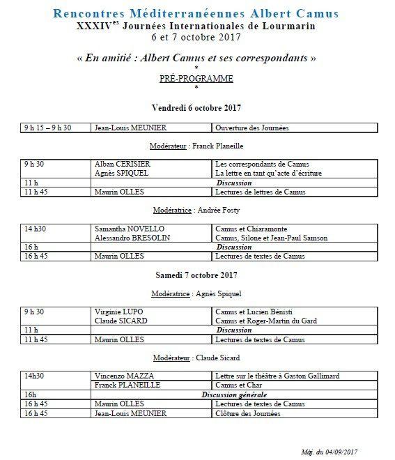 Affiche et programme des 34e journées d'octobre