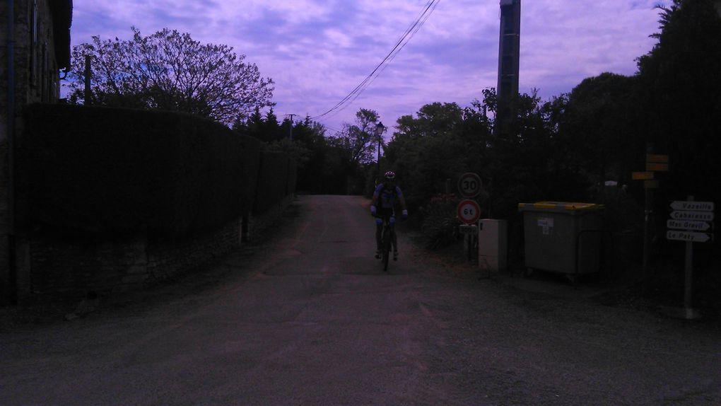 Passage du 55 kms VTT, le plus long des parcours de la Spiripontaine - Photos d'Amélie
