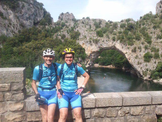 Sortie Gorges de l'Ardèche (départ côté Gard/retour côté Ardèche) 14/05/2015 - 74 kms