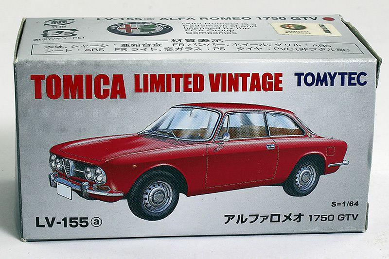 Alfa Romeo 1750 GTV. Tomica Limited Vintage. Échelle 1/64ème
