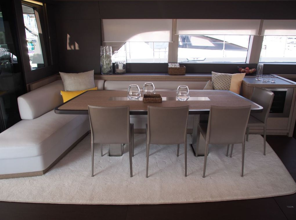 The lounge of the Lagoon Seventy 7