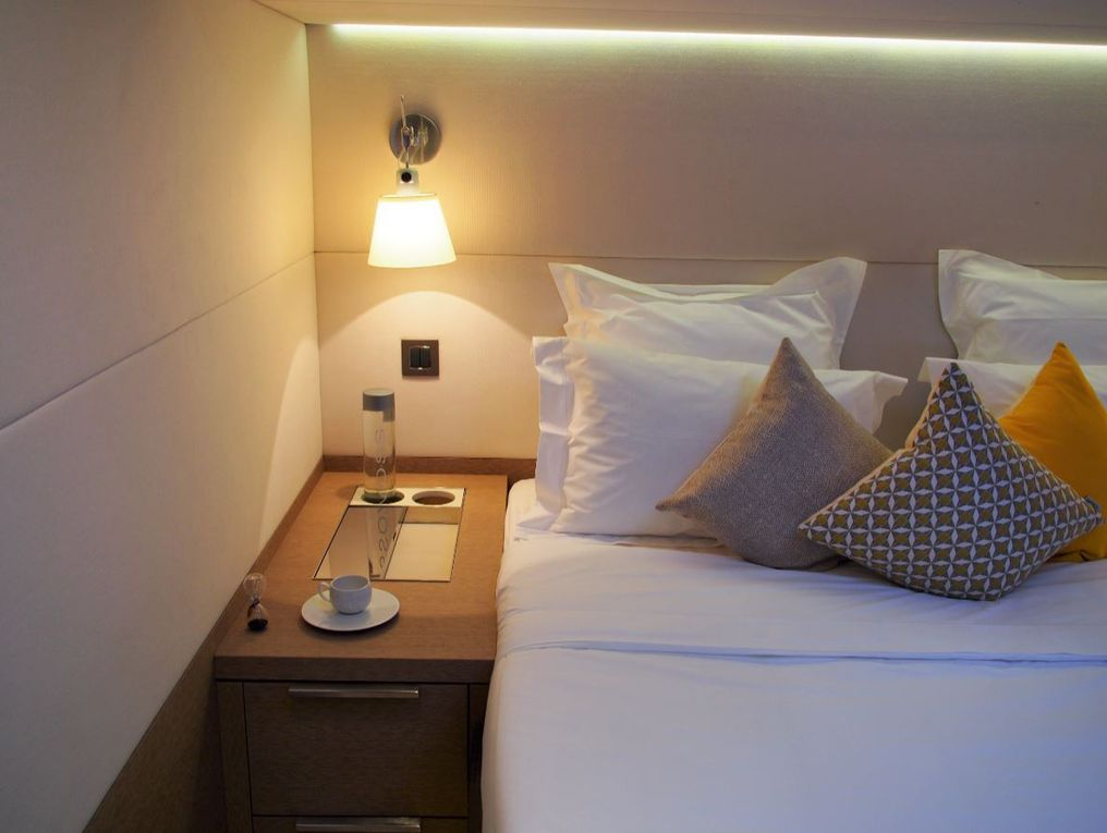 The VIP and guest cabins of the Lagoon Seventy 7