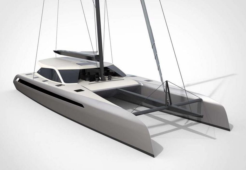 First 3D images of the future Gunboat 68 sport catamaran
