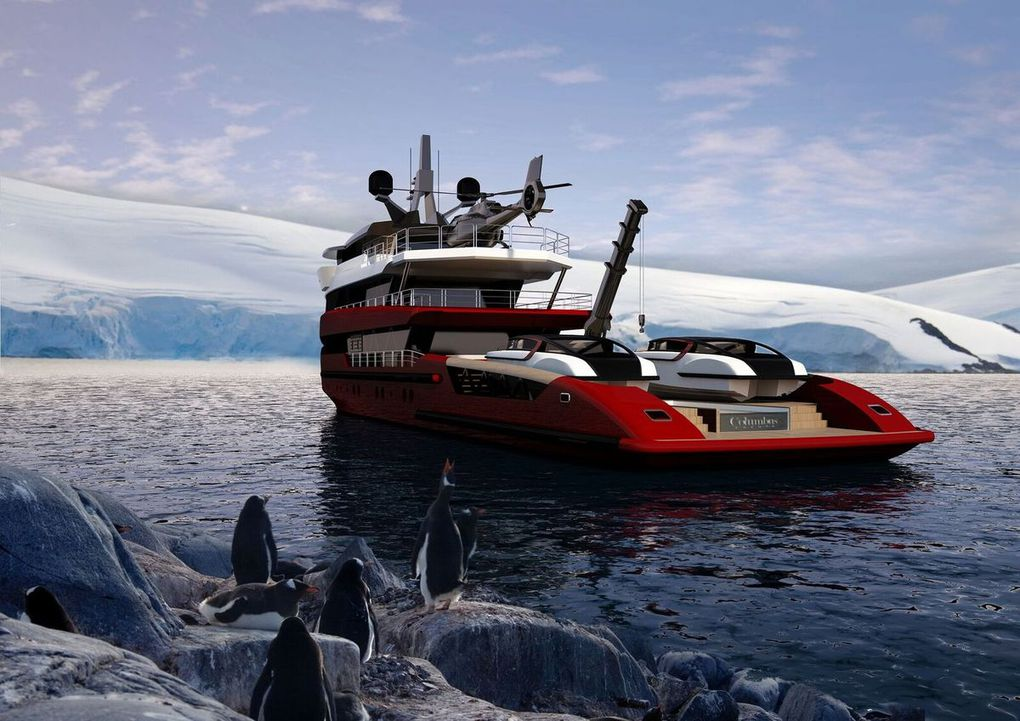 Tomahawk 52m, an amazing exploration yacht concept by Columbus Yachts