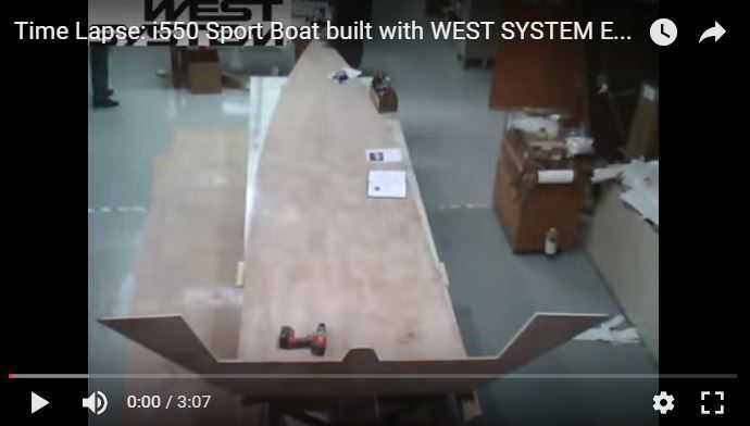 Time lapse - 3.07 minutes to build a stitch and glue sail boat with West System epoxy