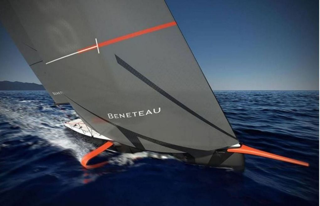 Bénéteau Unveils First Series Monohull with Foils