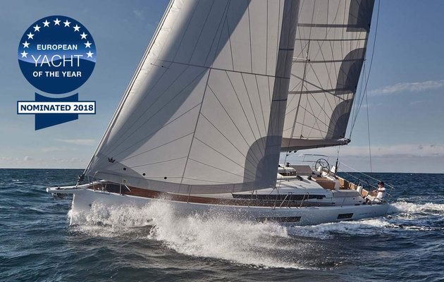 European Yacht of the Year 2018 - nominated Family Cruisers : Jeanneau Sun Odyssey 440, Beneteau Oceanis 51.1 and Hanse 548