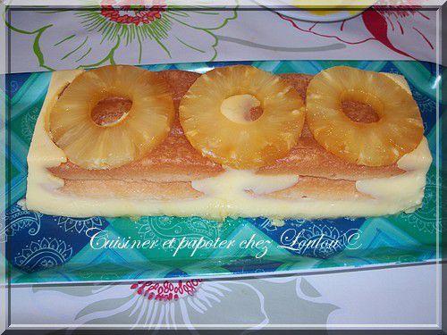 Cake sans cuisson à l'ananas