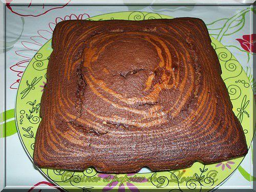 Un gâteau marbré à tomber !!