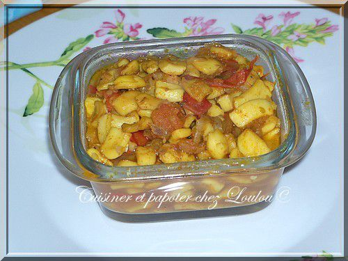 Lamelles de calamars au curry