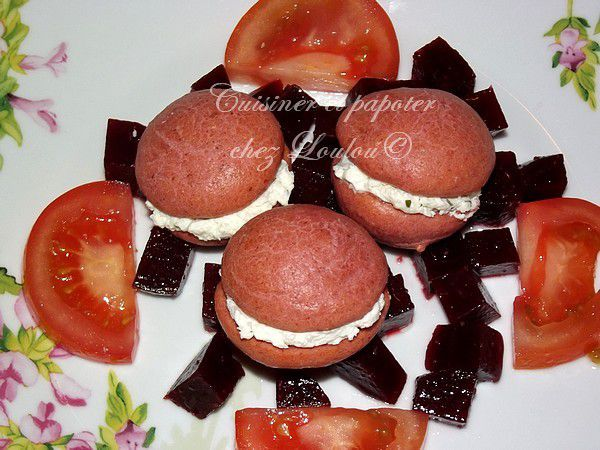Whoopie pies salés betterave fromage
