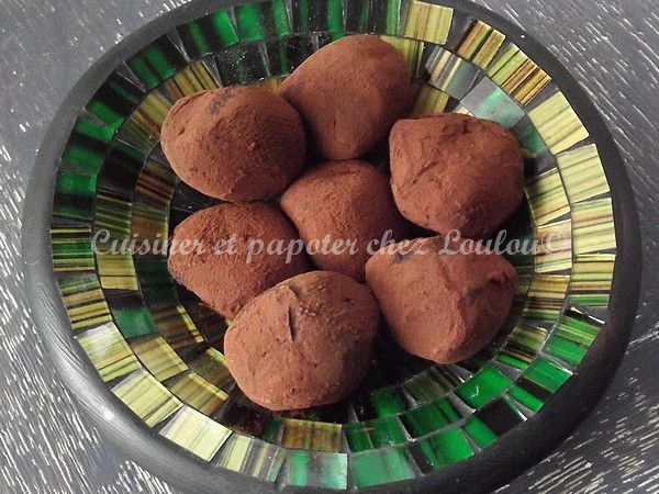 Truffes chocolat marron