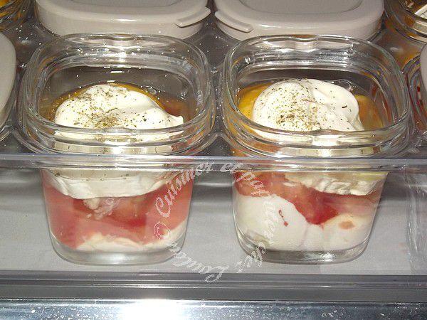 Oeufs cocotte tomate lardons chèvre à la multi délices