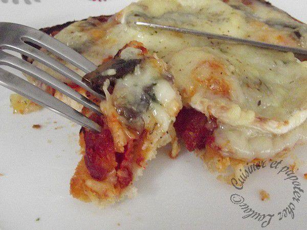 Tartines façon pizza