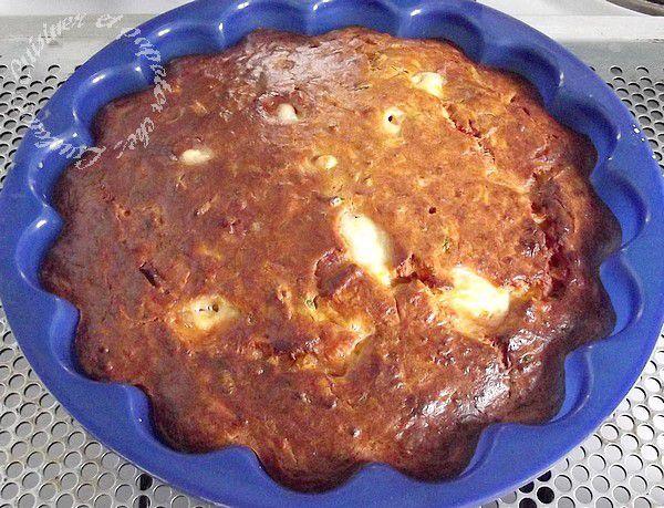Gâteau salé fondant courgette carotte mozarella