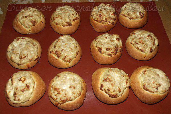 Petits pains briochés au thon et à la feta