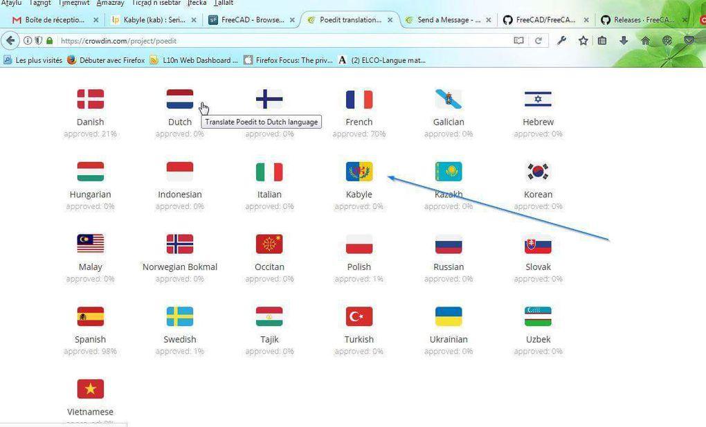 La compagnie Crowdin rajoute la Kabylie et son Drapeau Officiel dans ses localisations. K-Direct - Actualité