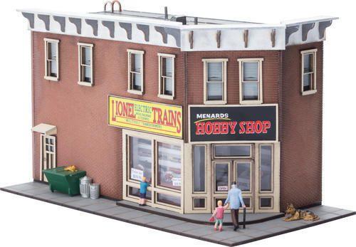 La boutique HOBBY SHOP et le wagon COVERED HOPPER échelle O de chez MENARDS