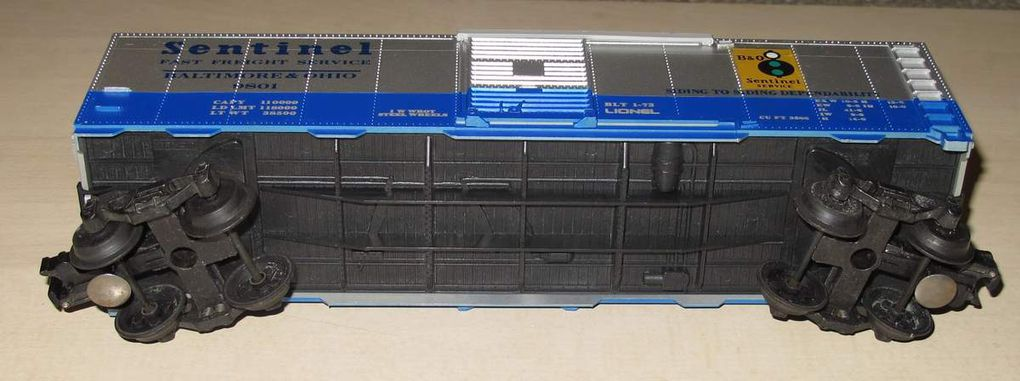 Wagon Box Car Baltimore &amp&#x3B; Ohio 3 rails échelle O Lionel