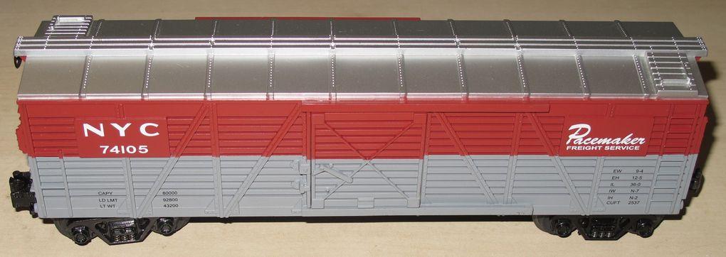 Wagon Stock Car New York Central 3 rails échelle O MTH