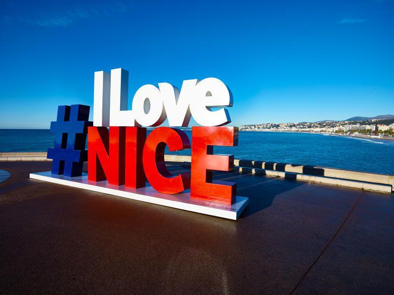 Nice, Promenade des Anglais, Coucher de Soleil