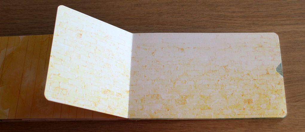 Réaliser un mini-album facilement avec les papiers de petit format (12 x 30,5 cm) des sets Scrap Plaisir