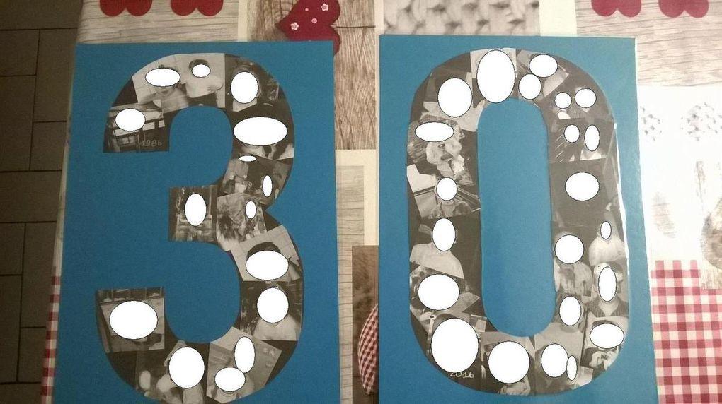 Décorations anniversaires : permis &quot&#x3B;humour&quot&#x3B;, guirlandes ,pèle-mèle photos en chiffres...