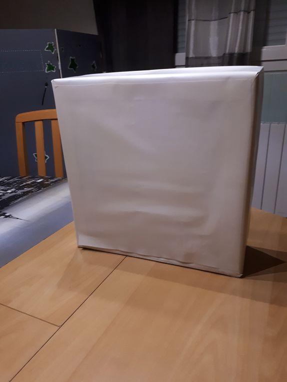 Fabrication rangement cosmétique en carton
