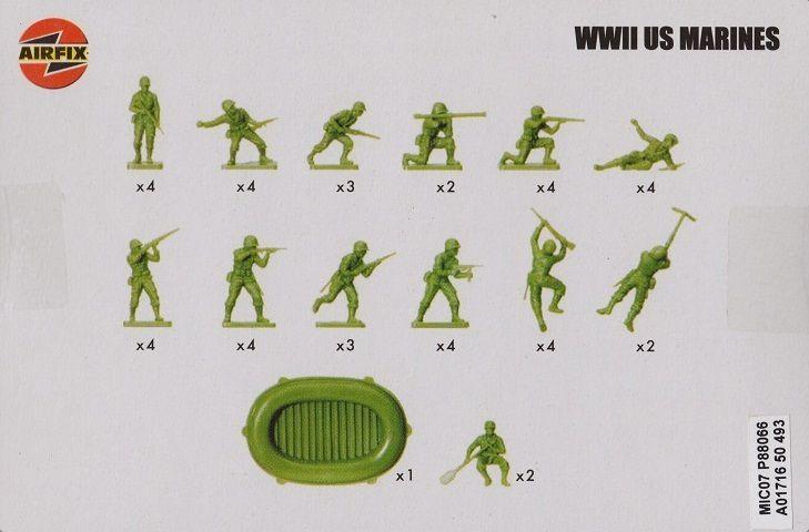 Les différentes boîte des US marines de 1964 à nos jours.