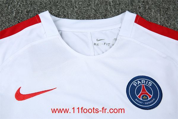 Nouveaux T Shirt Kit PSG 2016-17 Blanc Pas Cher
