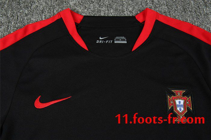 2016 2017 T Shirt Foot Potugal Thailande Noir