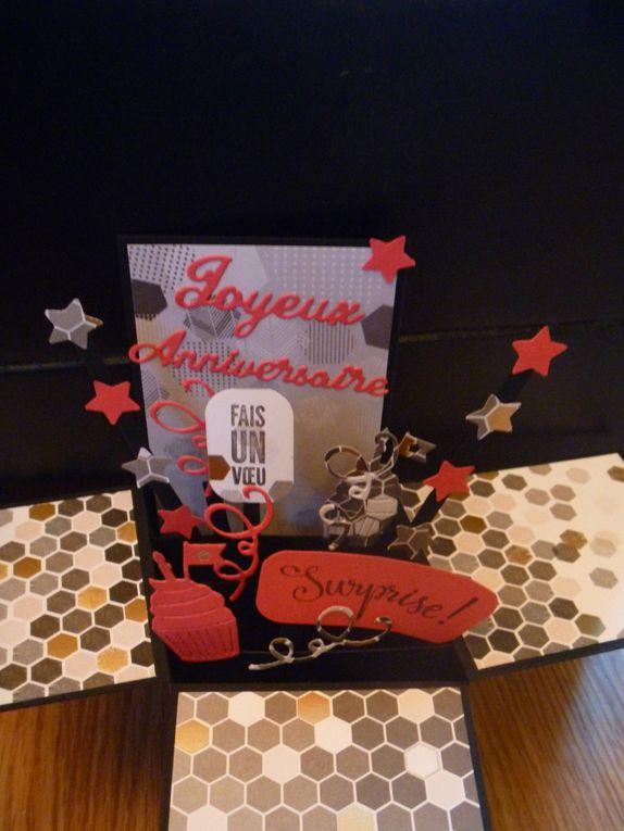 Pour amelie, un trés joyeux anniversaire surprise!Avec une carte pop'up!