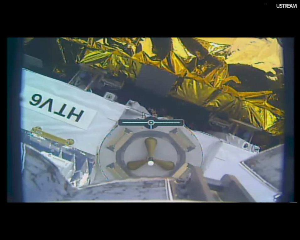 H-TV6 arrivée sur la Station