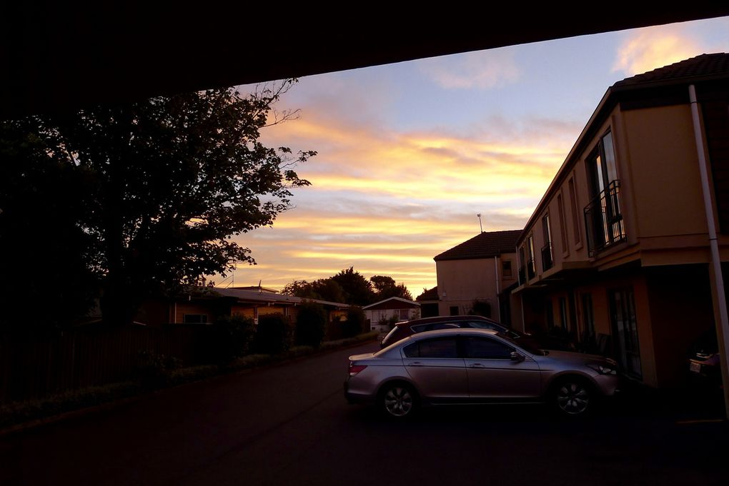 Lumières de l'aube à Christchurch
