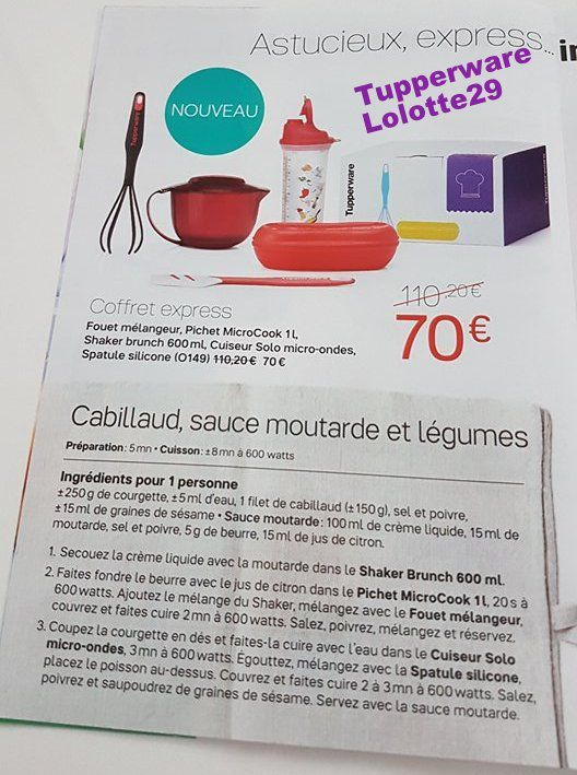 promotions du mois d 39 octobre 2017 tupperware lolotte29. Black Bedroom Furniture Sets. Home Design Ideas
