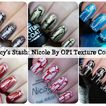 Nicole by OPI Texture coats - review and swatches of last six shades
